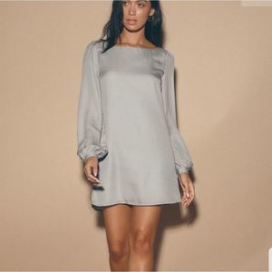 2/$25 Lulu's Status update grey shift dress